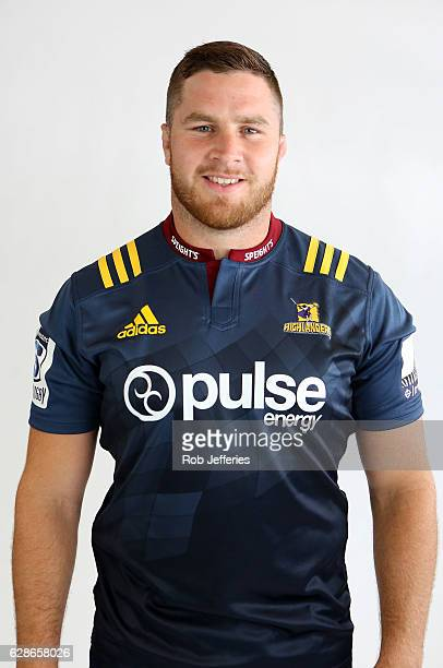Adrian Smith poses for a photo during the Highlanders Super Rugby headshots session on December 1 2016 in Dunedin New Zealand
