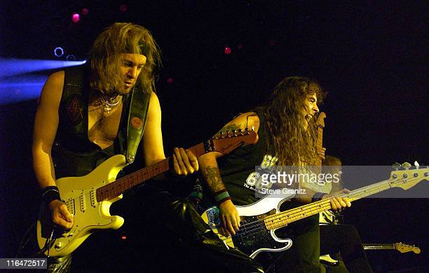 Adrian Smith Steve Harris and Dave Murray of Iron Maiden