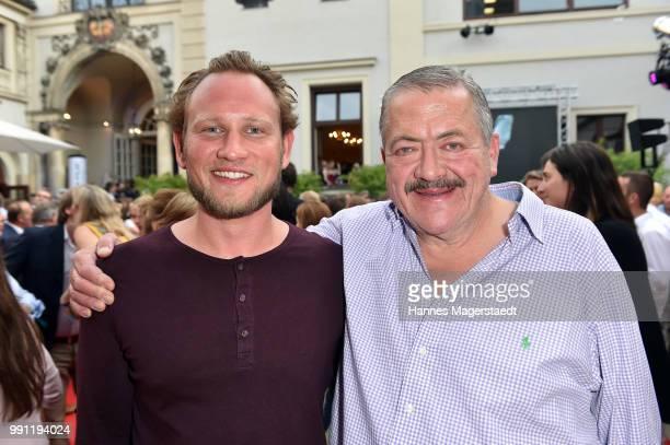 Adrian Spielbauer and Joseph Hannesschlaeger during the Bavaria Film reception during the Munich Film Festival 2018 at Kuenstlerhaus am Lenbachplatz...