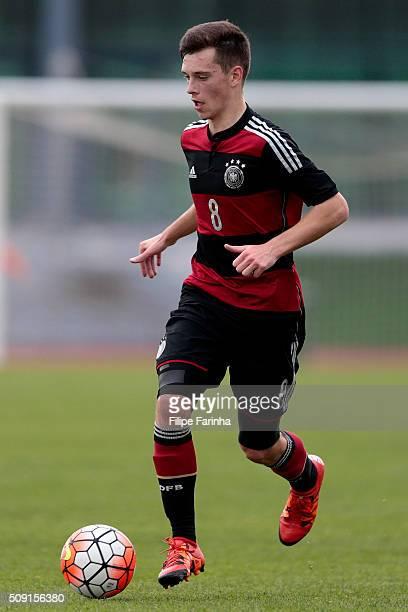 Adrian Stanilewicz of Germany during the UEFA Under16 match between U16 France v U16 Germany on February 6 2016 in Vila Real de Santo Antonio Portugal
