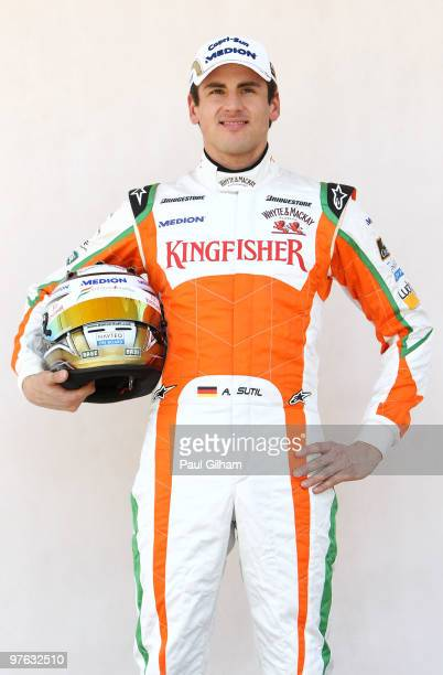Adrian Sutil Of Germany And Force India Attends The Drivers Official Portrait Session During Previews To