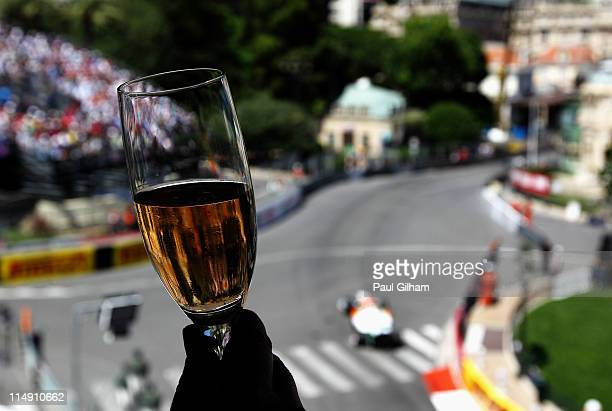 Adrian Sutil of Germany and Force India drives through Casino Square during qualifying for the Monaco Formula One Grand Prix at the Monte Carlo...