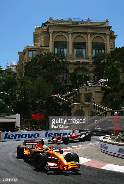 Adrian Sutil of Germany and Spyker F1 drives during the Monaco Formula One Grand Prix at the Monte Carlo Circuit on May 27, 2007 in Monte Carlo,...