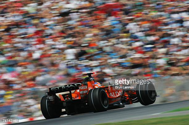 Adrian Sutil of Germany and Spyker F1 in action during the Spanish Formula One Grand Prix at the Circuit de Catalunya on May 13 2007 in Barcelona...