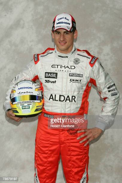 Adrian Sutil of Germany and Spyker F1 poses during the preseason drivers photocall ahead of the Australian Formula One Grand Prix at the Albert Park...