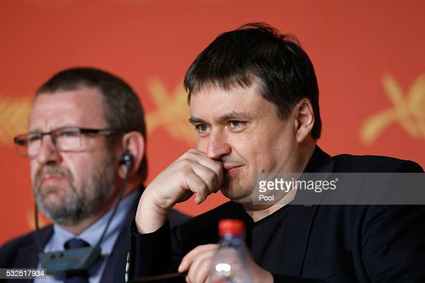 Adrian Titieni and Crisitan Mungiu attends the 'Graduation ' Press Conference during the 69th annual Cannes Film Festival at the Palais des Festivals...