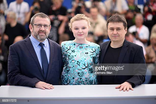 Adrian Titieni Maria Dragus and Cristian Mungiu attends the 'Graduation ' Photocall during the 69th annual Cannes Film Festival at the Palais des...