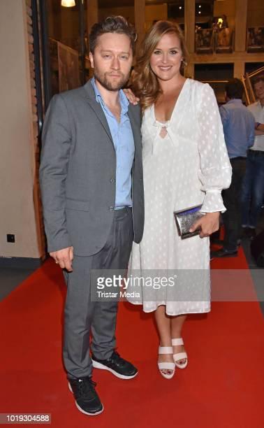 Adrian Topol and Judith Hoersch during the 'Schneefloeckchen' Premiere at Kino in der Kulturbrauerei on August 18 2018 in Berlin Germany