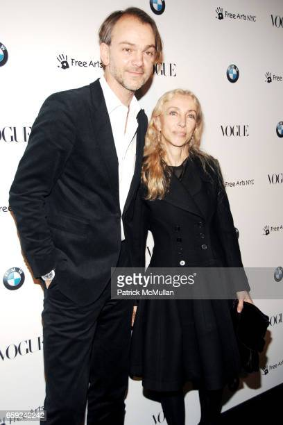 Adrian Van Hooydonk and Franca Sozzani attend VOGUE and BMW party to celebrate the new 2009 BMW 7 Series with Free Arts NYC at 122 West 26th Street...