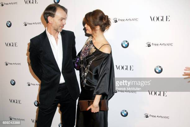 Adrian Van Hooydonk and Helena Christensen attend VOGUE and BMW party to celebrate the new 2009 BMW 7 Series with Free Arts NYC at 122 West 26th...