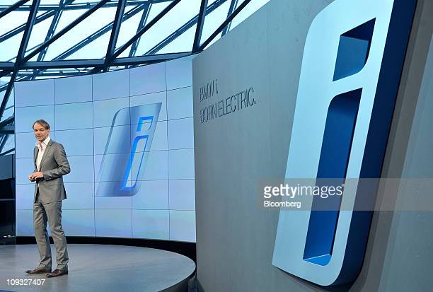 Adrian van Hooydonk chief designer of Bayerische Motoren Werke AG speaks during the launch of the new 'i' subbrand at the company's headquarters in...