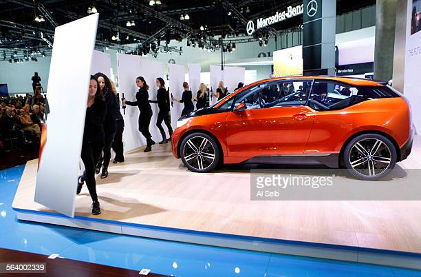 Adrian van Hooydonk Senior Vice President BMW Group Design introduced the BMW I3 Coupe during a press conference at the Los Angeles Auto Show on...