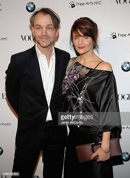 Adrian Van HooydonkBMW design chief and Helena Christensen attend the All New 2009 BMW 7 Series celebration by Vogue and BMW at a Private Space on...
