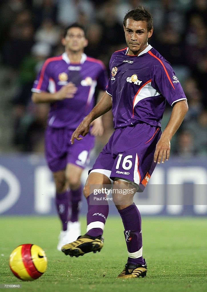 Adrian Webster of the Glory passes the ball during the round seven Hyundai A-League match between Perth Glory and the New Zealand Knights at Members Equity Stadium October 6, 2006 in Perth, Australia.