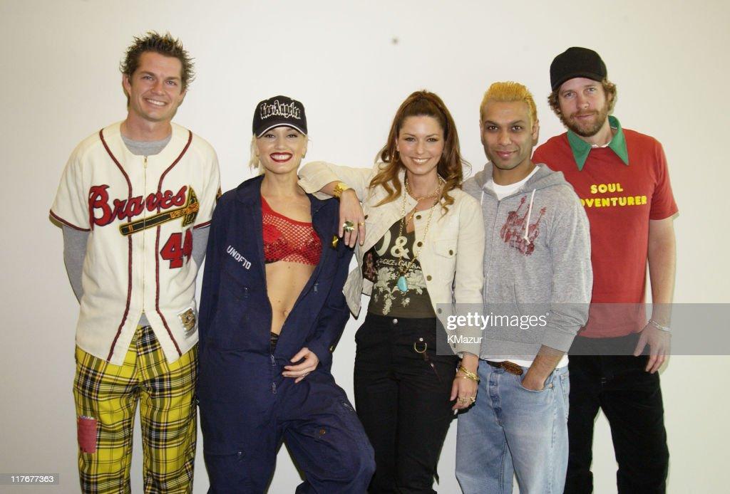 Adrian Young, Gwen Stefani, Shania Twain, Tony Kanal and Tom Dumont