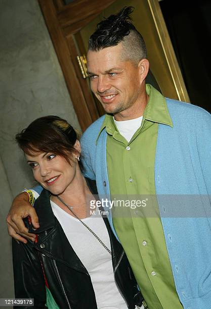 Adrian Young of No Doubt and Nina Young during Punk's Not Dead Los Angeles Premiere Arrivals at Henry Fonda Theater in Hollywood California United...