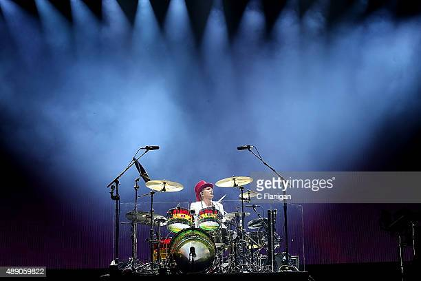 Adrian Young of No Doubt performs on day 1 of Kaaboo on September 18 2015 in Del Mar California