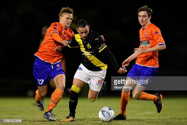 Matija Simic of Lions FC looks on during the NPL Semi Final match between Lions FC and Heidelberg United at Lions Stadium on September 18 2018 in...