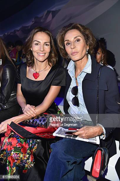 Adriana Abascal and Naty Abascal attends the Moncler Gamme Rouge show as part of the Paris Fashion Week Womenswear Spring/Summer 2017 on October 5...