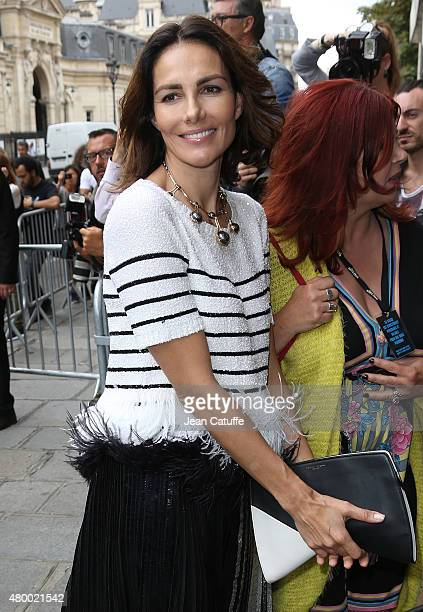 Adriana Abascal attends JeanPaul Gaultier fashion show at his headquarters rue Saint Martin during Paris Fashion Week Haute Couture Fall/Winter 15/16...