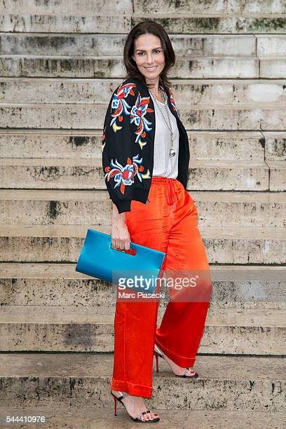 Adriana Abascal attends the Atelier Versace Haute Couture Fall/Winter 20162017 show as part of Paris Fashion Week on July 3 2016 in Paris France