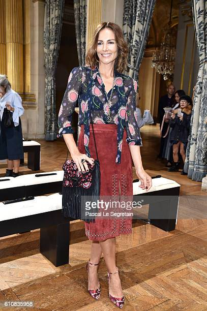 Adriana Abascal attends the Lanvin show as part of the Paris Fashion Week Womenswear Spring/Summer 2017 on September 28 2016 in Paris France