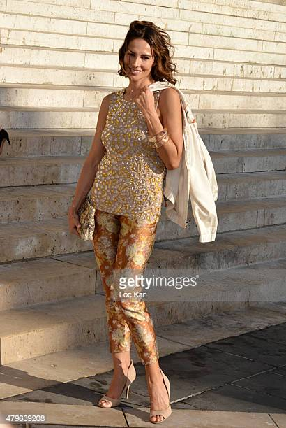 Adriana Abascal attends the Versace show as part of Paris Fashion Week Haute Couture Fall/Winter 2015/2016 on July 5 2015 in Paris France