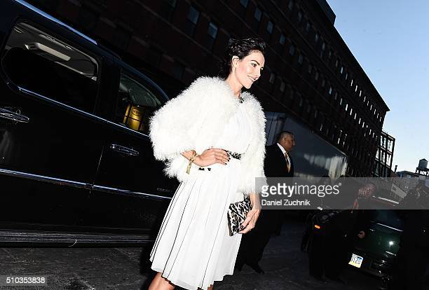 Adriana Abascal is seen outside the DVF show during New York Fashion Week: Women's Fall/Winter 2016 on February 14, 2016 in New York City.