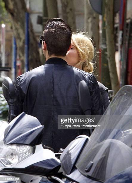 Adriana Abenia and boyfriend Sergio are seen on April 20 2012 in Madrid Spain