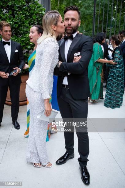 Adriana Abenia and husband Sergio Abad are seen arriving at 'Yo Dona' International Awards 2019 at ThyssenBornemisza Museum on June 24 2019 in Madrid...