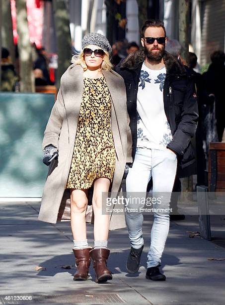 Adriana Abenia and Sergio Abad are seen on December 8 2015 in Madrid Spain