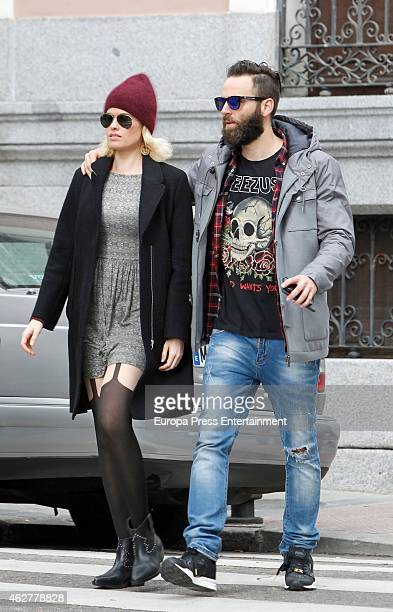 Adriana Abenia and Sergio Abad are seen on January 30 2015 in Madrid Spain