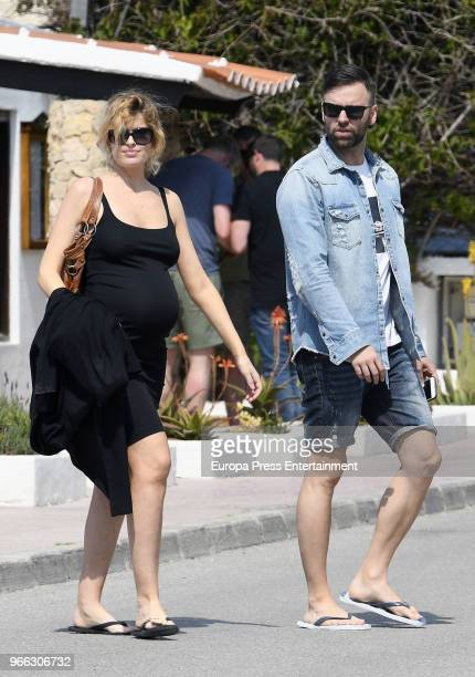Adriana Abenia and Sergio Abad are seen on May 17 2018 in Ibiza Spain