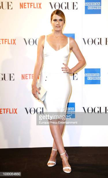 Adriana Abenia attend the 'Vogue fashion's Night Out' photocall at Ortega y Gasset street on September 13 2018 in Madrid Spain