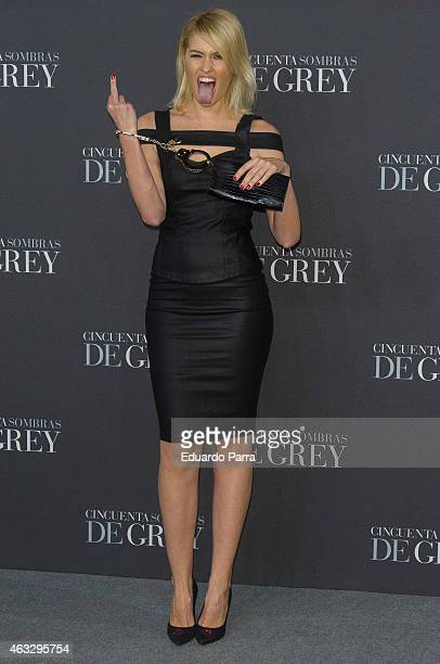 Adriana Abenia attends '50 Shades of Grey' premiere at Callao City Lights cinema on February 12 2015 in Madrid Spain