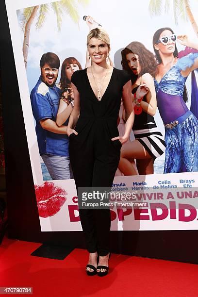 Adriana Abenia attends 'Como sobrevivir a una despedida' premiere on April 22 2015 in Madrid Spain