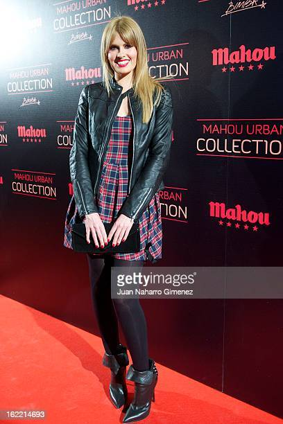 Adriana Abenia attends Mahou Urban Collection during Mercedes Benz Fashion Week Madrid Fall/Winter 2013/14 at Matadero on February 20 2013 in Madrid...