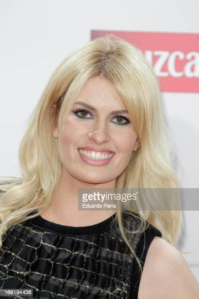 Adriana Abenia attends Malaga Film Festival party photocall at MOMA 56 disco on April 9 2013 in Madrid Spain