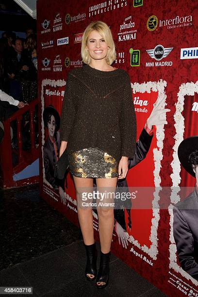 Adriana Abenia attends Miguel de Molina al Desnudo premiere at the Santa Isabel Theater on November 4 2014 in Madrid Spain