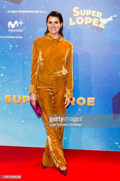 Adriana Abenia attends 'Superlopez' premiere at Capitol Cinema on November 21 2018 in Madrid Spain