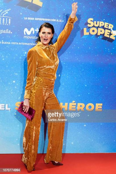 Adriana Abenia attends 'Superlopez' premiere at the Capitol cinema on November 21 2018 in Madrid Spain