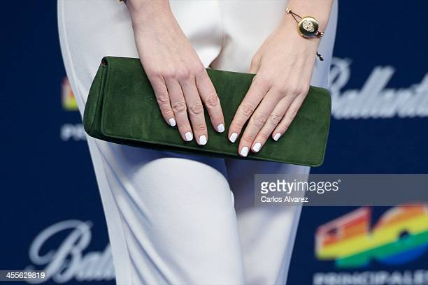 Adriana Abenia attends the '40 Principales Awards' 2013 photocall at Palacio de los Deportes on December 12 2013 in Madrid Spain