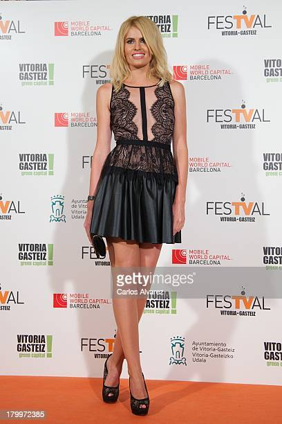 Adriana Abenia attends the 5th FesTVal Television Festival 2013 closing ceremony at the Principal Theater on September 7 2013 in VitoriaGasteiz Spain