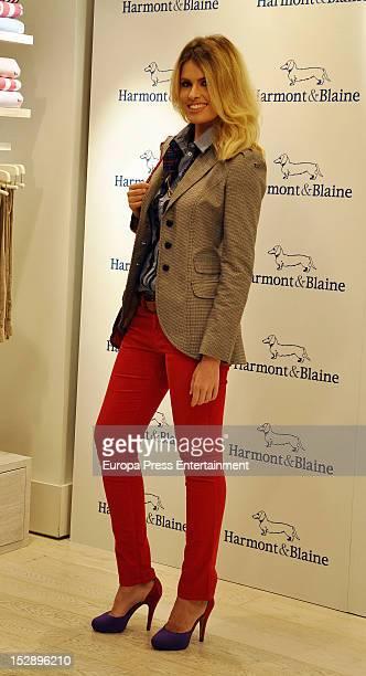 Adriana Abenia attends the celebrations of Alvaro de Marichalar crossing RomeNew York by jet ski's 10th Anniversary on September 27 2012 in Madrid...