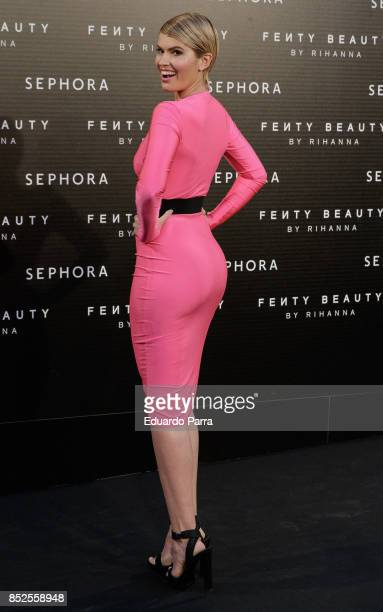 Adriana Abenia attends the Fenty Beauty photocall at Callao cinema on September 23 2017 in Madrid Spain