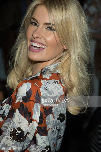 Adriana Abenia attends the front row of Ion Fiz show during the MercedesBenz Madrid Fashion Week Autumn/Winter 2016/2017 at Ifema on February 20 2016...