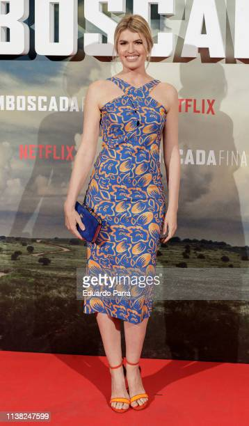 Adriana Abenia attends the 'Highwaymen' at Capitol cinema on March 25 2019 in Madrid Spain