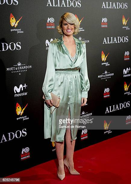 Adriana Abenia attends the Madrid premiere of the Paramount Pictures title 'Allied' at callao City Lights on November 22 2016 in Madrid Spain