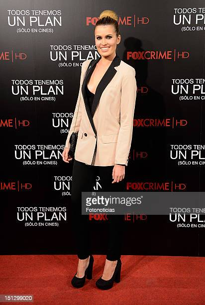 Adriana Abenia attends the premiere of 'Todos Tenemos Un Plan' at the Capitol cinema on September 5 2012 in Madrid Spain