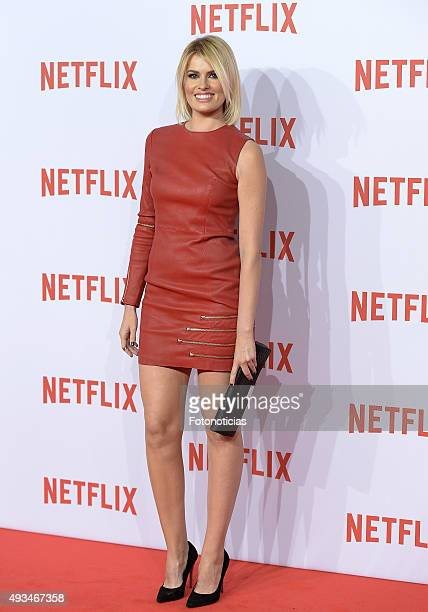 Adriana Abenia attends the red carpet of Netflix presentation at the Matadero Cultural Center on October 20 2015 in Madrid Spain
